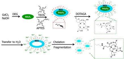 Figure 2. La synthèse des nanoparticules. Image dessinée par l'auteur.